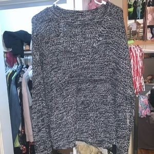 Neck cut out sweater